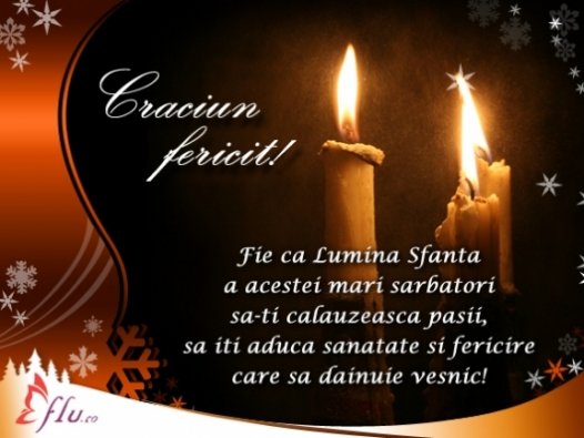 Felicitare - Lumina Sfanta - Felicitari Craciun - Felicitari.flu.ro