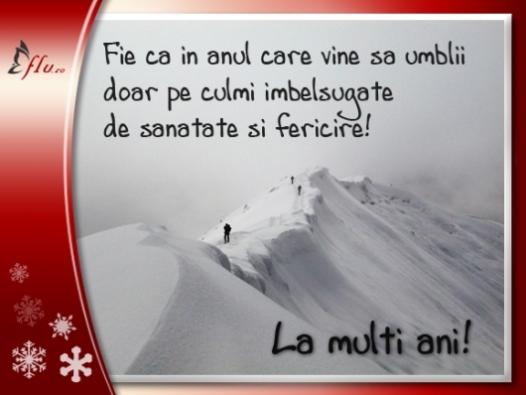 Felicitare - Culmi de sanatate si fericire - Felicitari Anul Nou - Felicitari.flu.ro