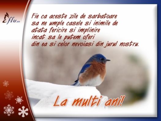 Felicitare - Zile fericite - Felicitari Anul Nou - Felicitari.flu.ro