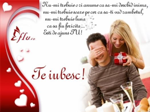 Felicitare - Esti de ajuns TU - Felicitari Ziua Indragostitilor - Felicitari.flu.ro