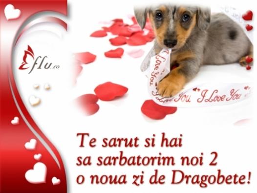 Felicitare - Te sarut - Felicitari Dragobete - Felicitari.flu.ro