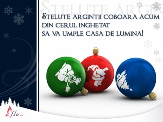 Felicitare - 3 globuri - Felicitari Craciun - Felicitari.flu.ro