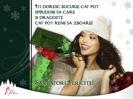Felicitare - La shopping de Sarbatori - Felicitari Craciun - Felicitari.flu.ro