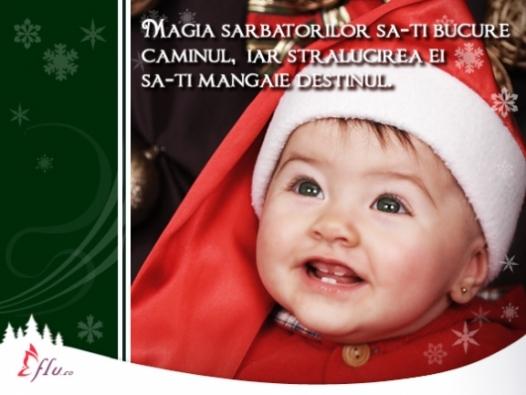 Felicitare - Copil fericit - Felicitari Craciun - Felicitari.flu.ro