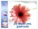 Felicitare La multi ani, Gabriela!