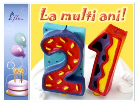 Felicitare - 21 ani - Felicitari Zi de nastere - Felicitari.flu.ro