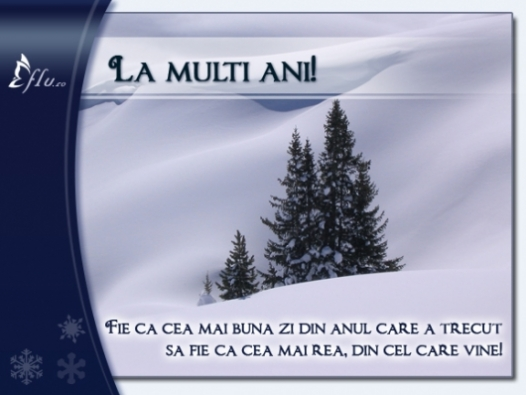 Felicitare - La multi ani! - Felicitari Anul Nou - Felicitari.flu.ro
