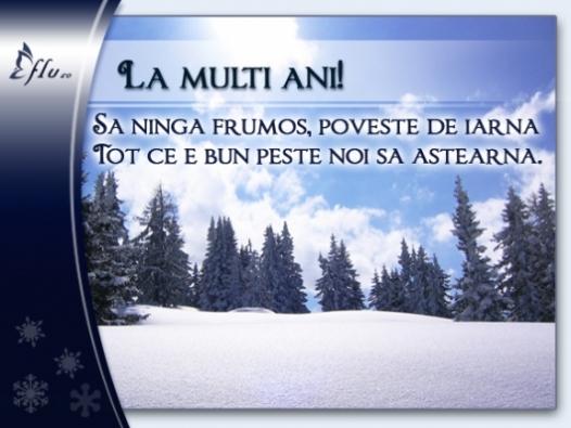 Felicitare - Ninsoare - Felicitari Anul Nou - Felicitari.flu.ro