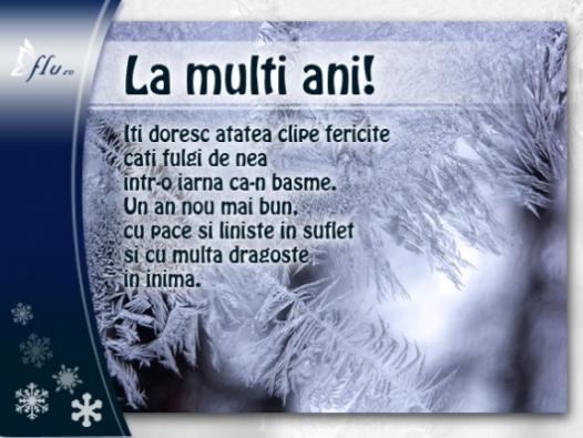 Felicitare - Geamuri inghetate - Felicitari Anul Nou - Felicitari.flu.ro