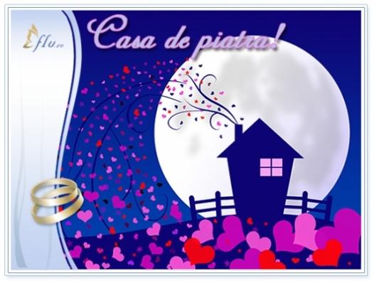 Felicitare - Casa de piatra! - Felicitari Nunta - Felicitari.flu.ro