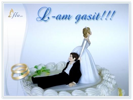 Felicitare - L-am gasit! - Felicitari Nunta - Felicitari.flu.ro