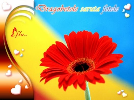 Felicitare - Saruta fetele - Felicitari Dragobete - Felicitari.flu.ro