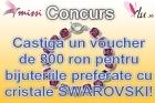 Castiga un voucher de 300 ron pentru bijuteriile tale preferate cu cristale SWAROVSKI
