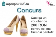 Castiga un voucher de 200 RON pentru cei mai frumosi pantofi!