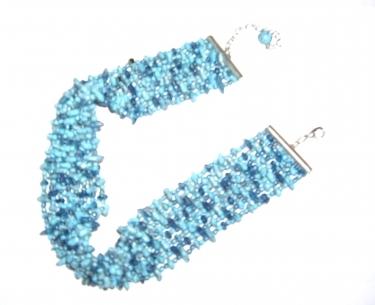 Accesorii Hippie - albastru marin
